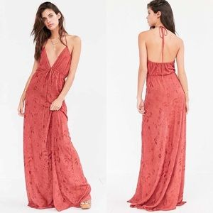 Flynn Skye Malia embroidered strappy maxi dress